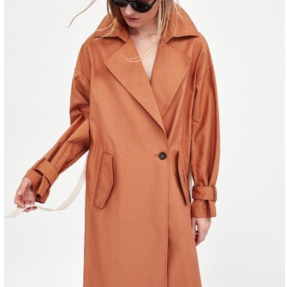 38f769c3 Zara Jackets & Coats   Trench Coat With Contrasting Belt   Poshmark